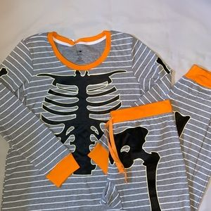Halloween pajama skeleton costume